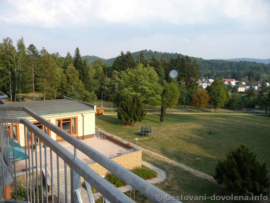 Hotel Energetic -  výhled z balkonu