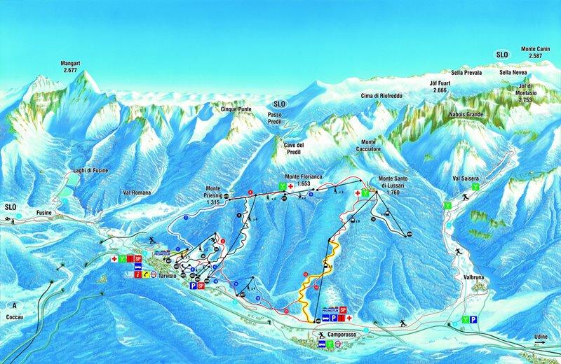 Skiareál Tarvisio má skutečně co nabídnout