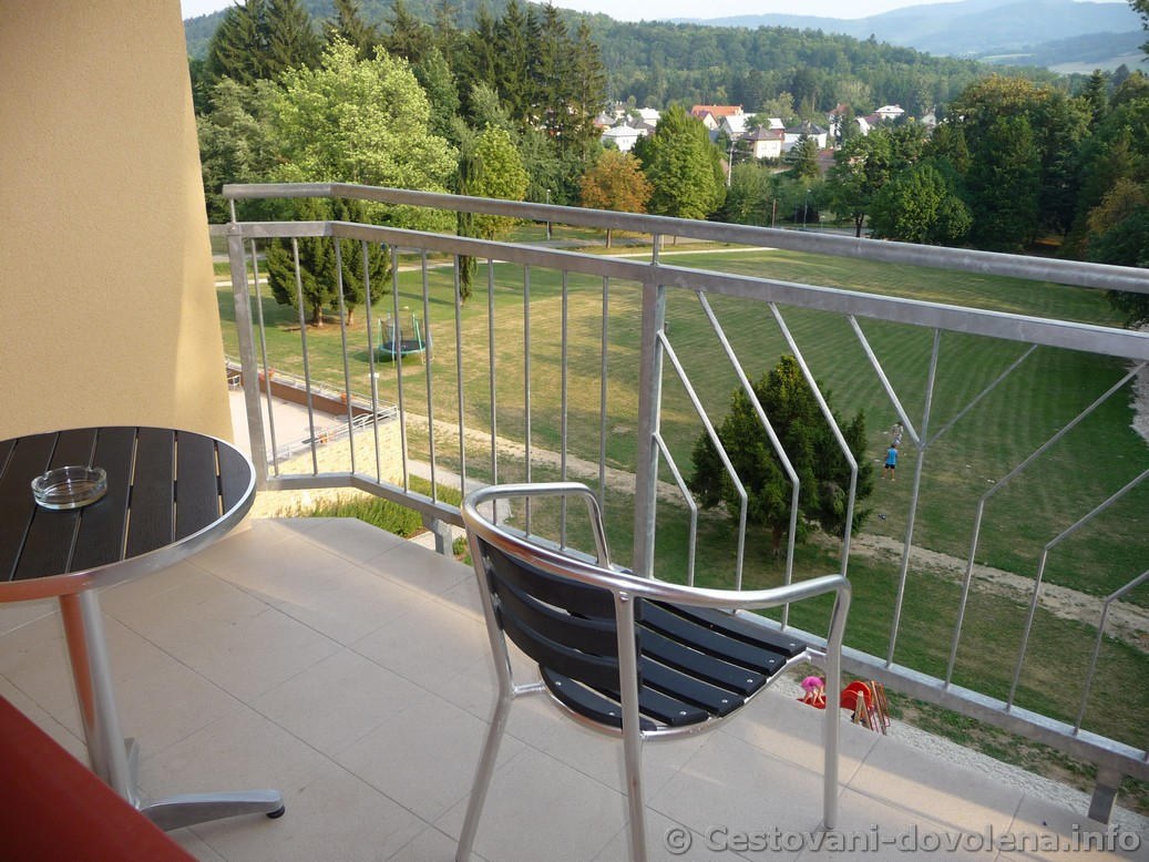 Hotel Energetic - apartmán, výhled z balkonu